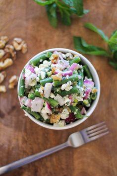 Mix green beans, walnuts and feta to make this yummy summer salad.
