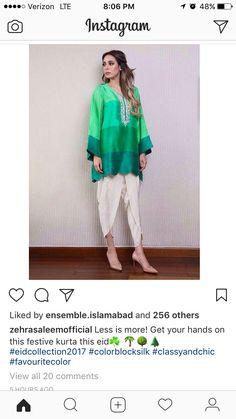 Silk Dress Design, Dress Neck Designs, Saree Blouse Designs, Pakistani Dresses, Indian Dresses, Indian Outfits, Trendy Kurti, Tulip Pants, Bridesmaid Saree
