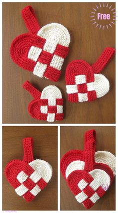 Christmas Crochet Heart Ornament Free Patterns – S. Crochet Christmas Decorations, Christmas Crochet Patterns, Crochet Ornaments, Holiday Crochet, Crochet Gifts, Free Crochet, Confection Au Crochet, Christmas Hearts, Christmas Items
