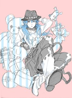 Aoba in Sei's outfit.