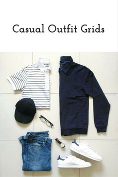Today we're going to share coolest casual outfit grids with you today. Amazing casual outfit grids to help you look sharp. Stylish Mens Fashion, Mens Fashion Blog, Best Mens Fashion, Smart Casual Outfit, Casual Outfits, Men Casual, Fashion Outfits, Casual Clothes, Outfit Grid