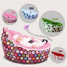 Baby bed, cute for living room and portable to take to grandma's