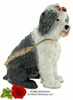 Trinket Boxes- Old English Sheepdog