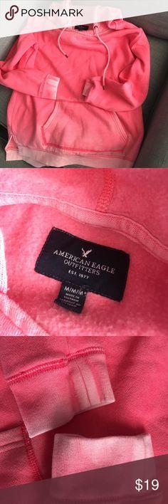 Vintage style faded sweatshirt Vintage style faded sweatshirt the length is shorter than typical sweatshirt style. Sooo comfortable! American Eagle Outfitters Tops Sweatshirts & Hoodies