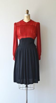 Spellbinder dress vintage 1930s dress silk and by DearGolden