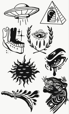 Kritzelei Tattoo, Smal Tattoo, Doodle Tattoo, Tiny Tattoo, Tattoo Ship, Ouija Tattoo, Tattoo Moon, Tattoo Fonts, Tattoo Quotes