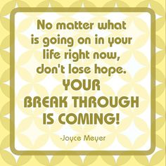 From Joyce Meier Cute Quotes, Great Quotes, Quotes To Live By, Inspirational Quotes, Motivational, Awesome Quotes, Cool Words, Wise Words, Joyce Meyer Quotes
