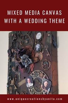 A step by step tutorial on how to make a mixed media wedding canvas. Adding elements of a special occasion to make the canvas more meaningful. Diy Craft Projects, Diy And Crafts, Crafts For Kids, Arts And Crafts, Project Ideas, Wedding Canvas, Weird Shapes, Diy Supplies, Mixed Media Canvas