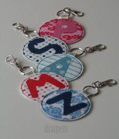 Porte clés lettres