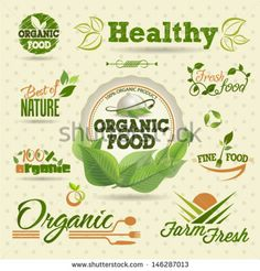 Organic Fresh vector Labels and  Elements set. Graphic Design Editable For Your Design.