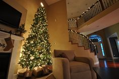 12 Foot Christmas tree. #gold #silver #kraftpaper