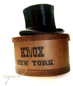 Antique Vintage Knox New York top hat by mysweetiepiepie, via Flickr...one of these days I'm going to get one of these.