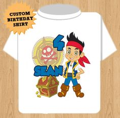 Jake and the Neverland Pirates Birthday T by YourChoicedesigns, $18.00