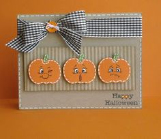 Scrappin' With Kimmy: Halloween Blog Hop WINNER and Another Halloween Card!