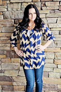 Shattered Moonlight Tunic $28.00 Ruby Claire Boutique
