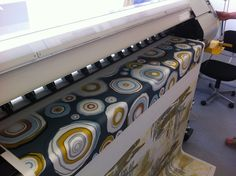 Digital fabric printing process