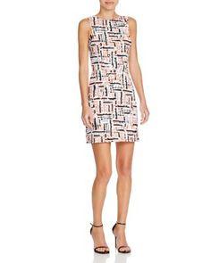 AQUA Linear Texture Printed Dress | Bloomingdale's