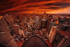 New York in red.