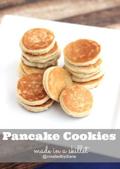 Pancake Cookies made in a skillet....sweet and delicious, and look exactly like pancakes!