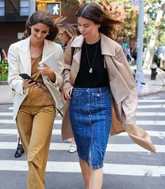 Casual cool looks with Brie Welch and Annina Mislin.