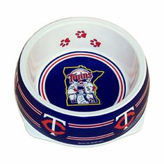 "-""Minnesota Twins Stainless Dog Bowl"" - BD Luxe Dogs & Supplies"