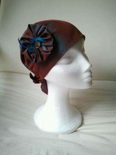 pañuelo en tonos marrones azulados en seda salvaje. Mas en natalialuzentupelo.blogspot.com.es