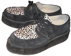 I had these creepers in high schook only they had blue leopard print. Comfiest shoes ever.