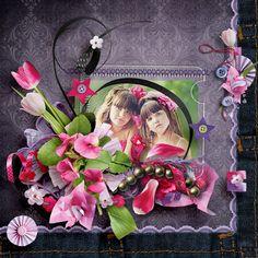 "Photo from album ""sisterly love"" on Yandex. Sister Love, My Scrapbook, Views Album, Digital Scrapbooking, Floral Wreath, Yandex Disk, Beautiful, Floral Crown, Flower Crowns"