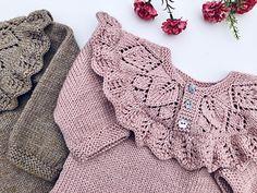 Knit Baby Dress, Knitted Baby Clothes, Knitting For Kids, Baby Knitting Patterns, Crochet Yarn, Knit Crochet, Crochet Bikini, Kids Outfits, Sweaters