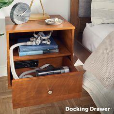 Cpap Bedside Table Building Diy Diy Nightstand Bed
