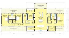 Ranch Style House Plan - 3 Beds 3.5 Baths 3478 Sq/Ft Plan #888-9 Main Floor Plan - Houseplans.com