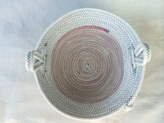 Rope bowl with loop handles by busybeehomemadegoods on Etsy