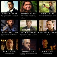 Good. Neutral. Evil, ~~ Although this has none of the female characters from that show. LOL