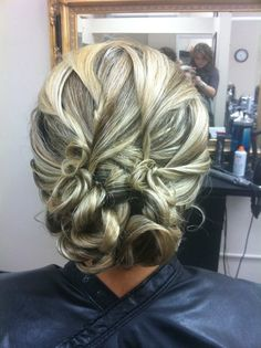 Wedding hair- twist updo