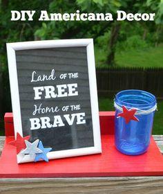 Americana Decor with Krylon #MysteryBox