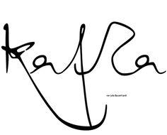 Kafka typeface by Julia Bausenhardt, via Behance