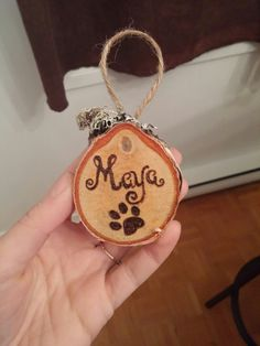 Christmas Wood Slab Ornament