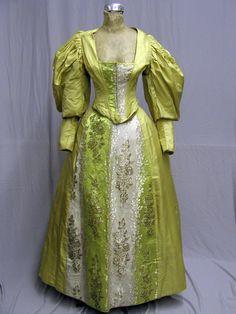 1890s brocade gown