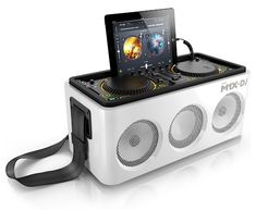 iOSデバイス用DJコントローラーと電池駆動パワードスピーカーが一体化 Philips M1X-DJ