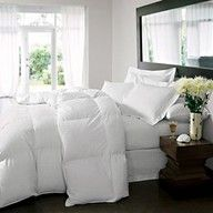 There's something about white bedding that's so inviting, crisp and clean like a freshly made hotel bed