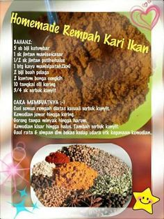 Homemade Rempah ikan Nyonya Food, Snacks Dishes, Indonesian Cuisine, Homemade Spices, Fish Curry, Curries, Curry Recipes, Baking Tips, Salmon Recipes