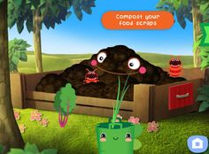 Gro Play makes gardening and compost into adorable fun for kids. With multi-touch support, so kids can play together with each other or an adult!