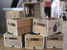Wooden boxes made of pallets  #Pallets
