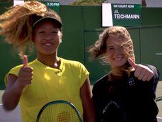 Naomi Osaka learns the Tweener with Daria Kasatkina