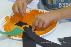The Value of a Paper Plate Pumpkin by teachpreschool #Kids #Preschool