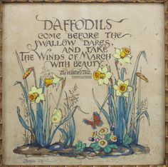 When daffodils begin to peer, With heigh! the doxy over the dale, Why, then comes in the sweet o' the year; For the red blood reigns in the winter's pale. The Winter's Tale Pomes, Vernal Equinox, Design Jardin, Winter's Tale, Garden Quotes, Spring Sign, Spring Has Sprung, Spring Flowers, Spring Plants