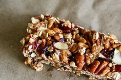 Homemade Cranberry Spice Granola Bars