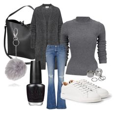 """Sthlm"" by fiacarolina on Polyvore featuring Acne Studios, MANGO, Pieces and OPI"