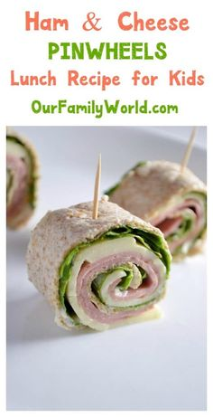 & cheese pinwheel sandwich Want to make back to school lunch recipes fun and healthy? Try these cute ham & cheese pinwheel sandwiches!Want to make back to school lunch recipes fun and healthy? Try these cute ham & cheese pinwheel sandwiches! Vegetarian Meals For Kids, Kids Cooking Recipes, Healthy Meals For Kids, Kids Meals, Healthy Snacks, Kid Cooking, Kid Recipes, Jello Recipes, Whole30 Recipes