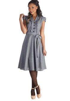ModCloth grey artist dress